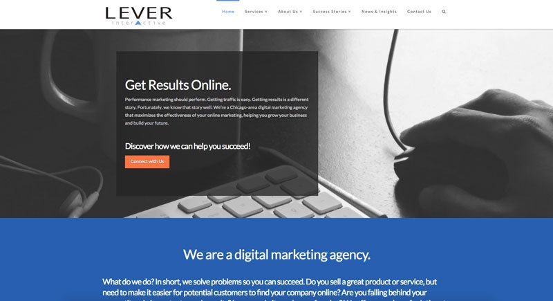 Lever Interactive website