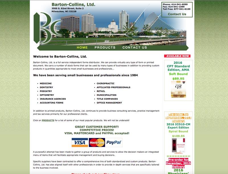 Barton-Collins website - before