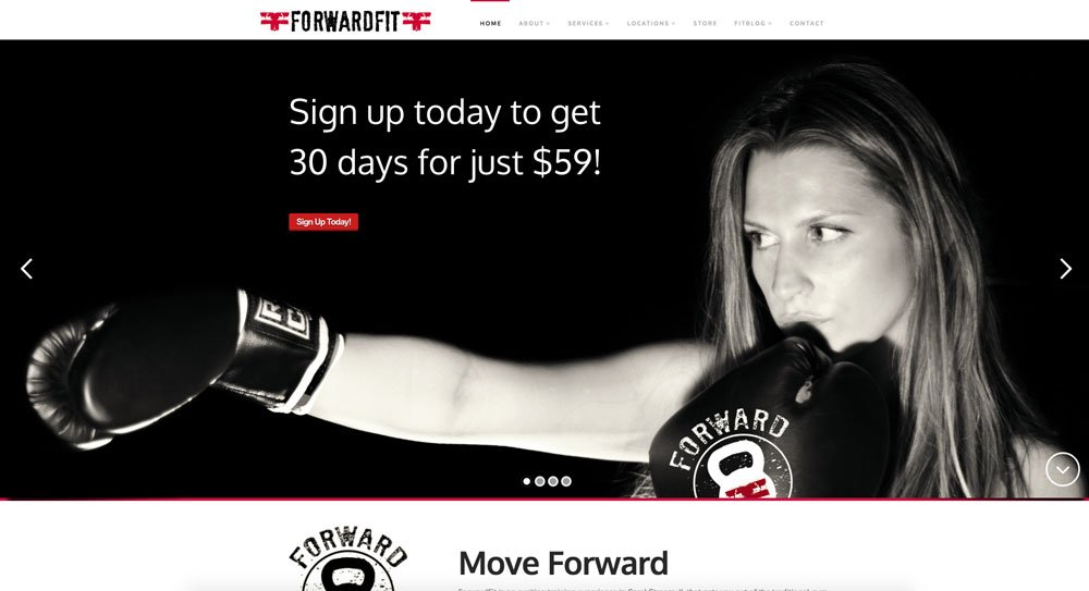 ForwardFit website