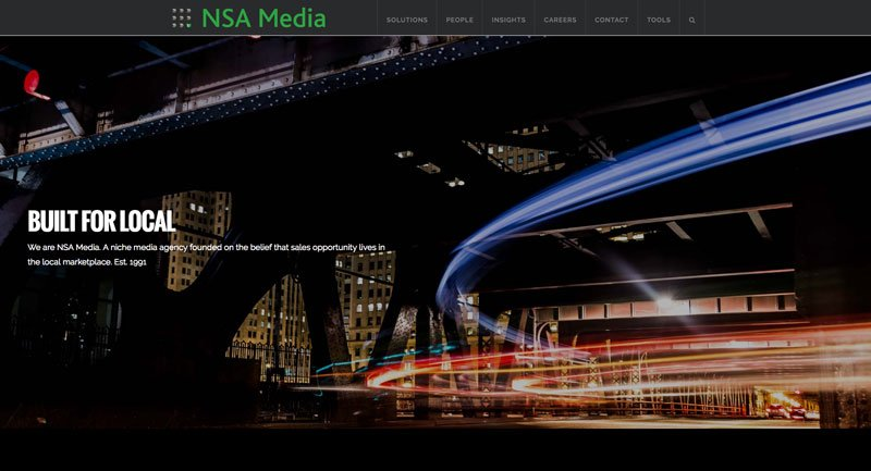 NSA Media website redesign