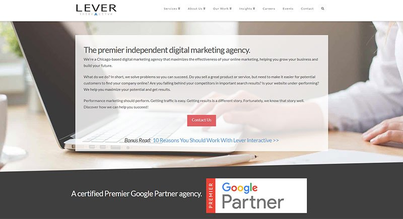 Lever Interactive website